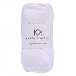 8/4 Optical White - KK Color Cotton økologisk bomuldsgarn fra Karen Klarbæk
