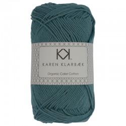 Mellem Petrol Blå - KK Color Cotton økologisk bomuldsgarn fra Karen Klarbæk