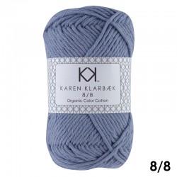 Faded Jeans Blue 8/8 - KK Color Cotton økologisk bomuldsgarn fra Karen Klarbæk