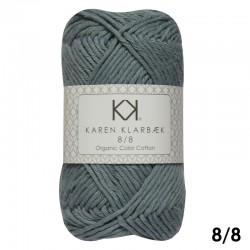 Light Lead Blue 8/8 - KK Color Cotton økologisk bomuldsgarn fra Karen Klarbæk
