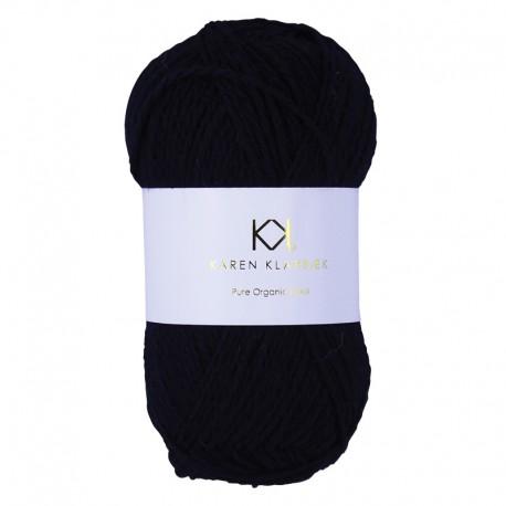 Black - KK Pure Organic Wool - økologisk uldgarn fra Karen Klarbæk
