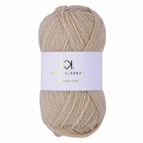 Beige - KK Pure Organic Wool - økologisk uldgarn fra Karen Klarbæk