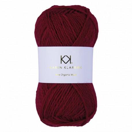 Red - KK Pure Organic Wool - økologisk uldgarn fra Karen Klarbæk