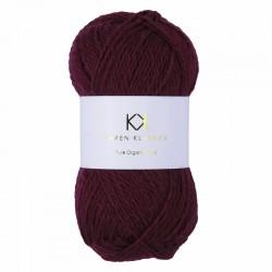 Bordeaux - KK Pure Organic Wool - økologisk uldgarn fra Karen Klarbæk