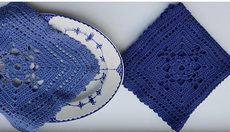 Blå serviet