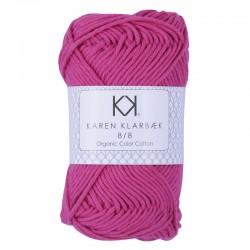 8/8 Hot Pink - KK Organic Color Cotton økologisk bomuldsgarn fra Karen Klarbæk