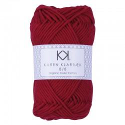 8/8 Dark Christmas Red - KK Organic Color Cotton økologisk bomuldsgarn fra Karen Klarbæk