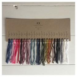 Farvekort på 8/8 KK Organic Color Cotton