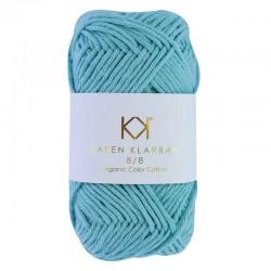 8/8 Turquoise - KK Organic Color Cotton økologisk bomuldsgarn fra Karen Klarbæk