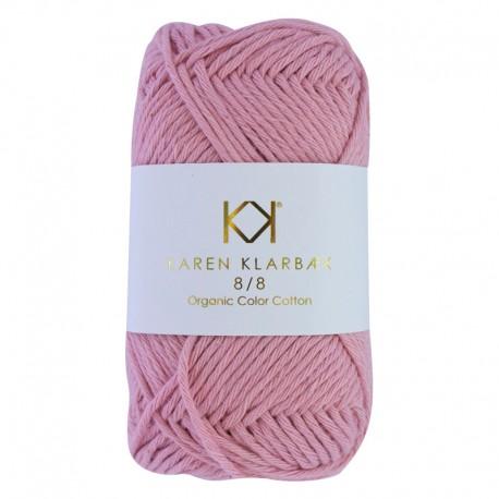 8/8 Old Rose - KK Color Cotton økologisk bomuldsgarn fra Karen Klarbæk