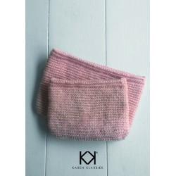 Opskrift på hæklet kosmetikpung/taskei uldgarn - Farvetryk i postkortstørrelse