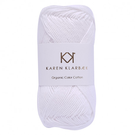 8/4 Optical White - KK Color Cotton økologisk bomuldsgarn fra Karen Klarbæk