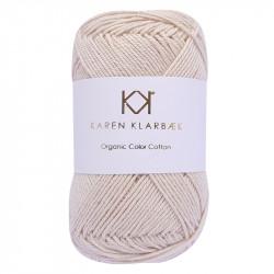 8/4 Warm Nature White - KK Organic Color Cotton økologisk bomuldsgarn fra Karen Klarbæk