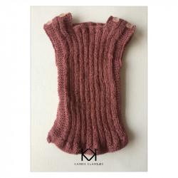 Opskrift på strikket babyundertrøje (str. 50-56) - e-opskrift