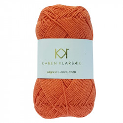8/4 Orange - KK Organic Color Cotton økologisk bomuldsgarn fra Karen Klarbæk