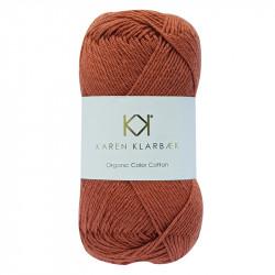 8/4 Cognac - KK Organic Color Cotton økologisk bomuldsgarn fra Karen Klarbæk
