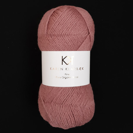 Dark Rose - KK Fine Pure Organic Wool - økologisk uldgarn fra Karen Klarbæk