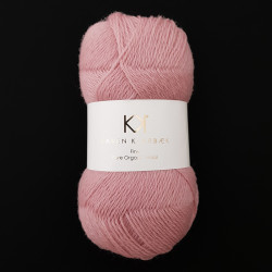 Rose - KK Fine Pure Organic Wool - økologisk uldgarn fra Karen Klarbæk