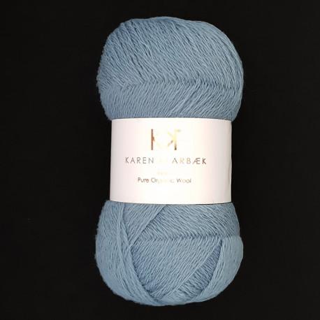 Blue - KK Fine Pure Organic Wool - økologisk uldgarn fra Karen Klarbæk