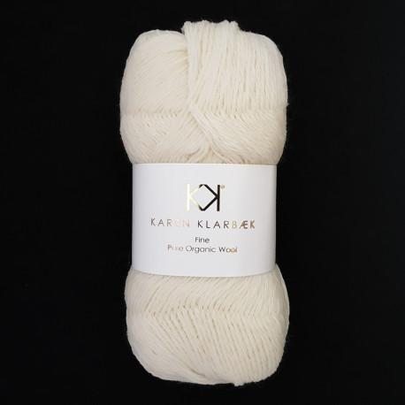 Nature White - KK Fine Pure Organic Wool - økologisk uldgarn fra Karen Klarbæk