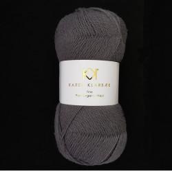 Charcoal - KK Fine Pure Organic Wool - økologisk uldgarn fra Karen Klarbæk