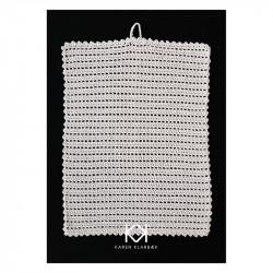 Opskrift på hæklet håndklæde med hulrækker - Farvetryk i postkortstørrelse