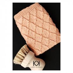 Opskrift på strikket Dominoklud - Farvetryk i postkortstørrelse