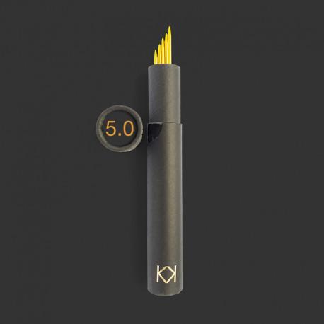 5,0 mm, KK strømpepinde 5 stk. i rør