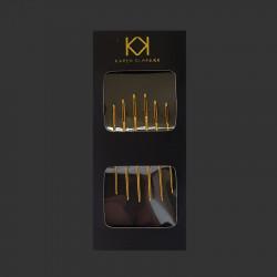 KK nåle i kuvert, 6 stk. - 3 længder
