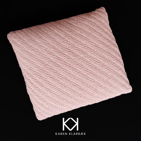 Opskrift på pude hæklet i uld - e-opskrift