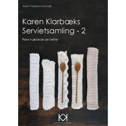 """Hæklebog """"Karen Klarbæks Servietsamling - 2"""" - TRYKT BOG"""