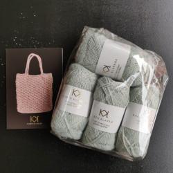 4 nøgler Recycled Bottle Yarn - Clinique + opskrift på strikket net i Recycled Bottle Yarn