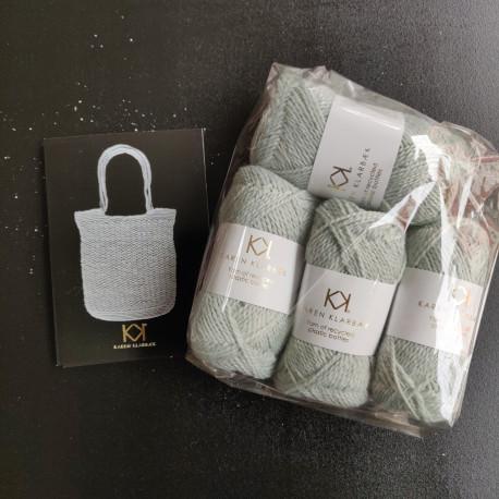 4 nøgler Recycled Bottle Yarn - Clinique + opskrift på hæklet net i Recycled Bottle Yarn
