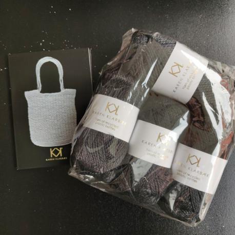 4 nøgler Recycled Bottle Yarn - Black + opskrift på hæklet net i Recycled Bottle Yarn