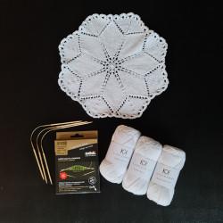 8/4: 3 nøgler KK Optical White + opskrift på Juleserviet 2020 - addiCraSyTrio Bamboo