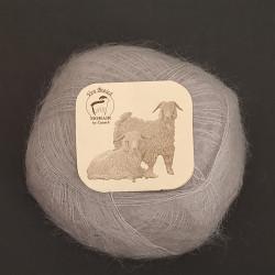 Sølvgrå - Mohairgarn fra Mohair by Canard