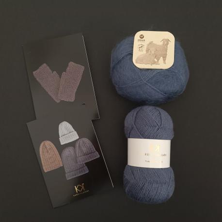 BLÅ: Fine Pure Organic Wool + Mohair by Canard + to opskrifter