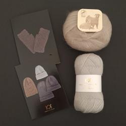 GRÅ/SAND: Fine Pure Organic Wool + Mohair by Canard + to opskrifter