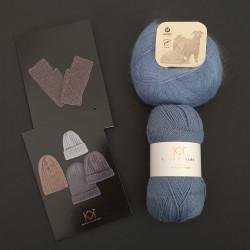 LYS BLÅ: Fine Pure Organic Wool + Mohair by Canard + to opskrifter