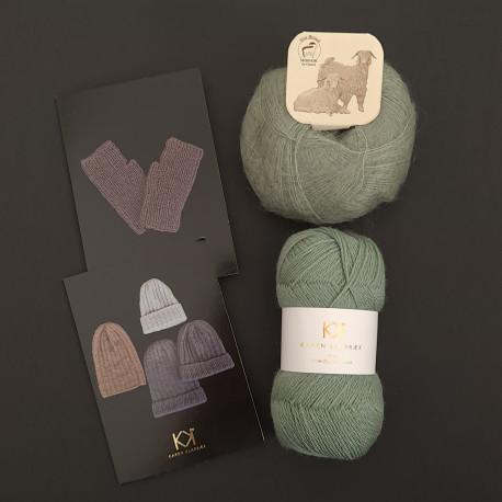 LYS GRØN: Fine Pure Organic Wool + Mohair by Canard + to opskrifter