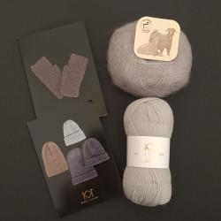GRÅ/SØLV: Fine Pure Organic Wool + Mohair by Canard + to opskrifter