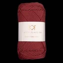 8/4 Red Wine - KK Organic Color Cotton økologisk bomuldsgarn fra Karen Klarbæk