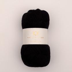 Black - KK Fine Pure Organic Wool - økologisk uldgarn fra Karen Klarbæk