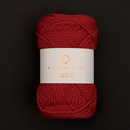 Christmas Red - Recycled Bottle Yarn