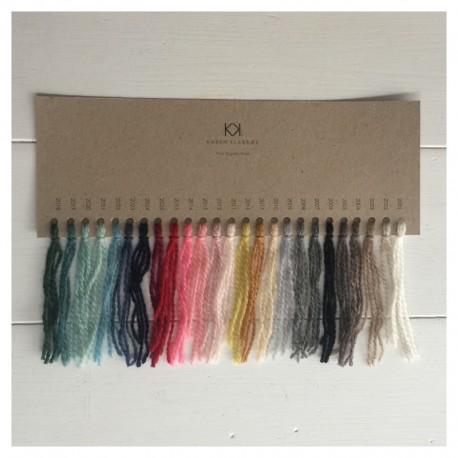 Farvekort på Fine Pure Organic Wool