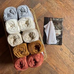 8/4: Grå-Rust (2. sortering) 10 nøgler + opskrift på hæklet blondehåndklæde