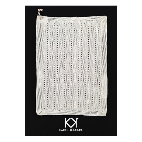 Opskrift på hæklet gæstehåndklæde med hulmønster - Trykt opskrift