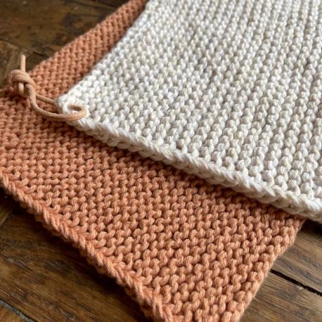 Opskrift på simpel strikket grydelap - e-opskrift