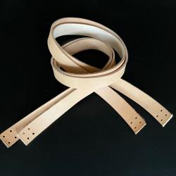 Læderstropper til taske/net - 2x94 cm - 2 stk.