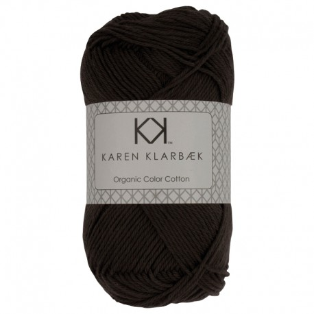 Mørk gråbrun - KK Organic Color Cotton økologisk bomuldsgarn fra Karen Klarbæk